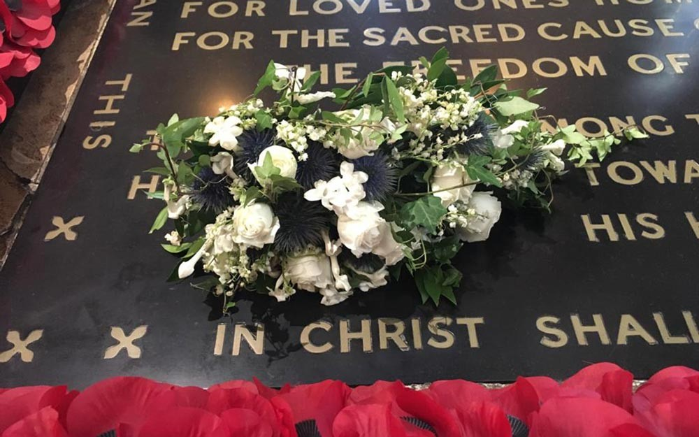 Princess Beatrice S Wedding Bouquet Rests On Warrior S Grave