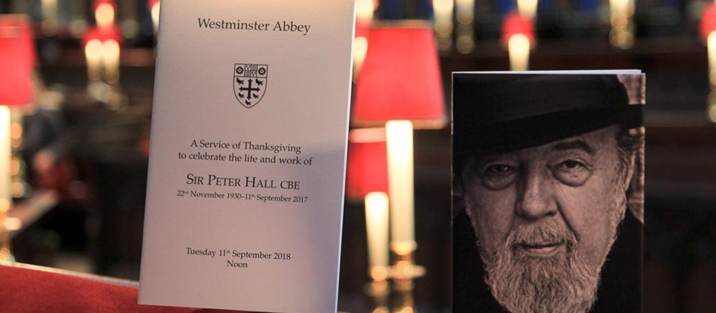 Westminster Abbey celebrates the life of Sir Peter Hall