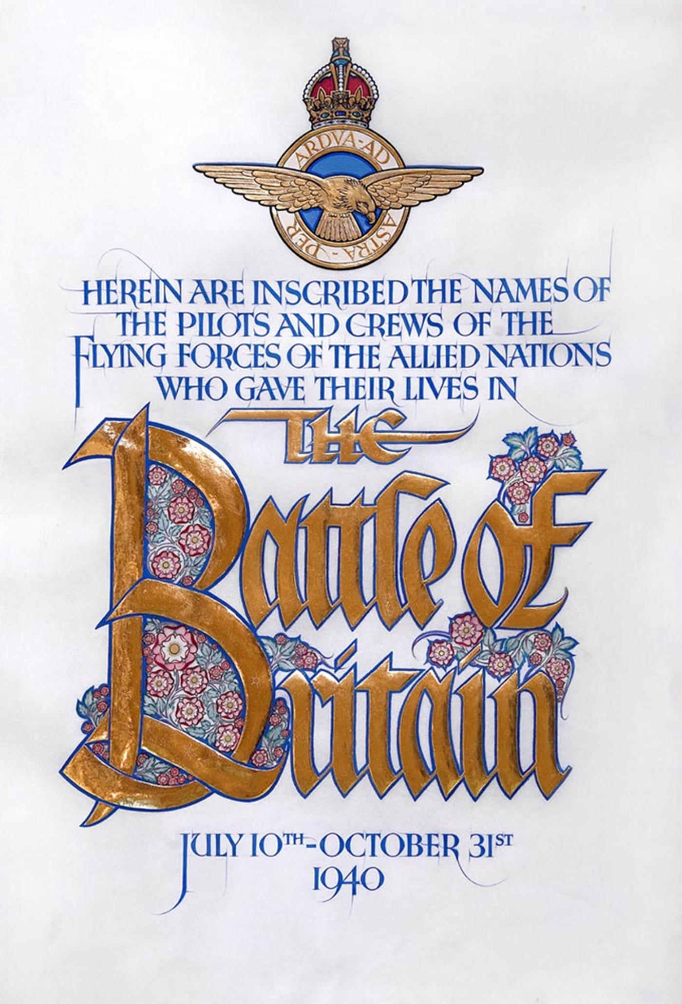 Battle of Britain Roll, title page