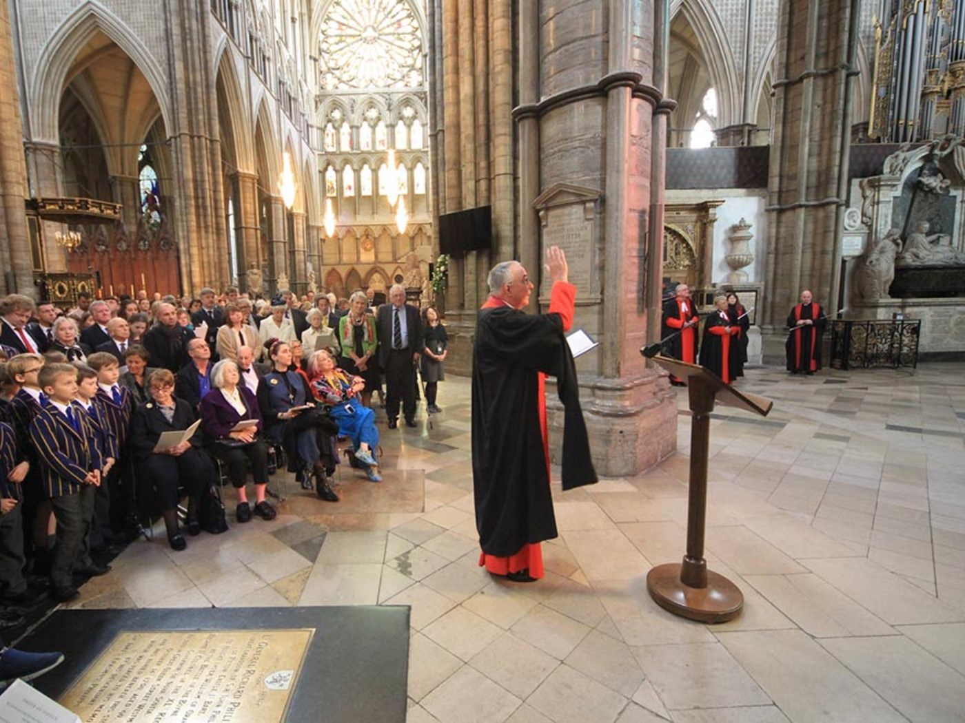 The Dean of Westminster gives The Dedication