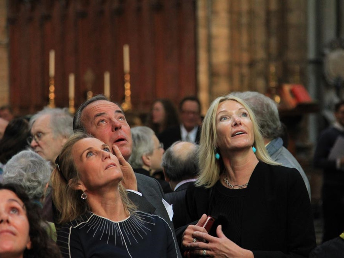 Friends and family of the artist attended the service