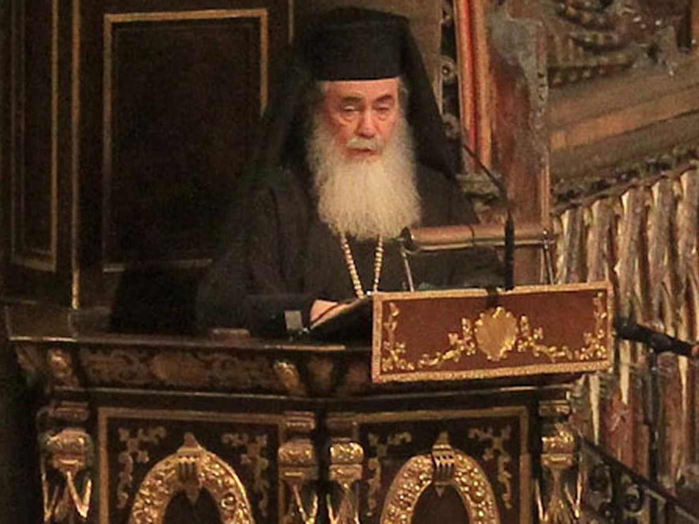 His Beatitude Theophilos III, Patriarch of Jerusalem, reads a Reflection