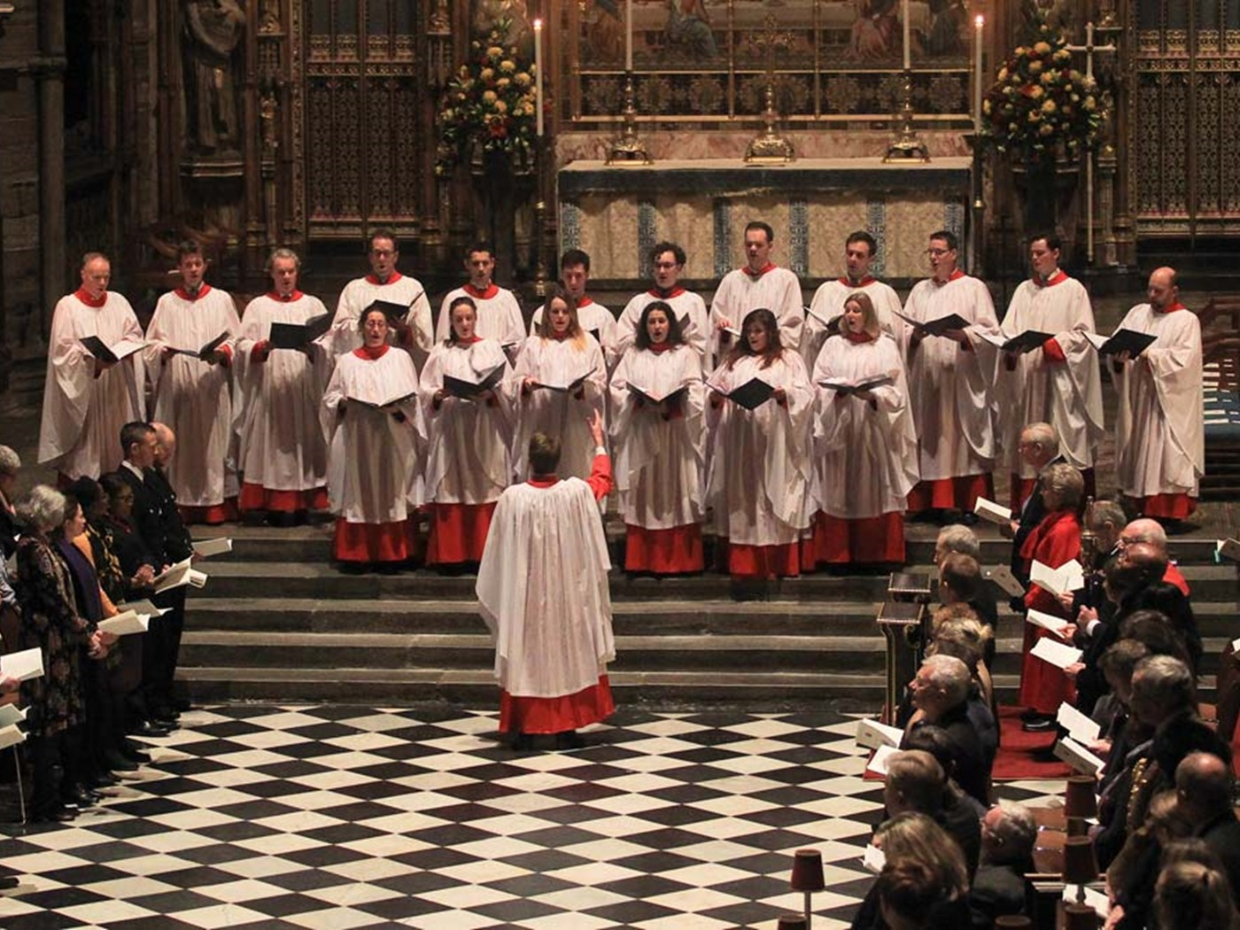 The Special Service Choir of Westminster Abbey sings 'Once in Royal David's City'