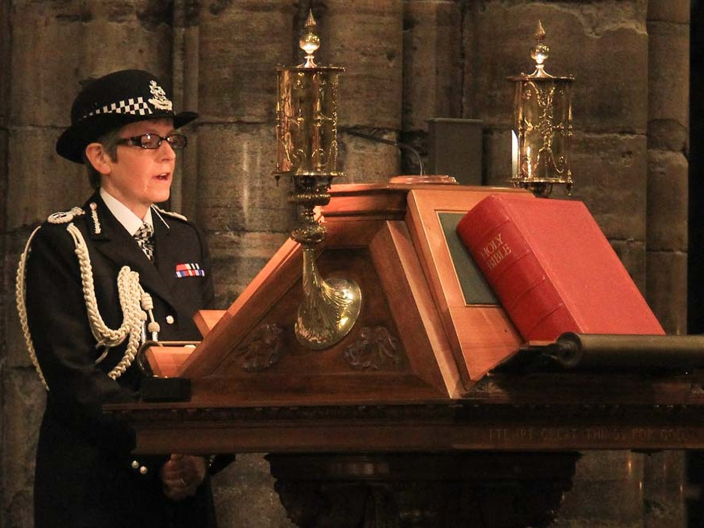 Cressida Dick CBE QPM, Commissioner of Police of the Metropolis, reads St Matthew 1: 18–23