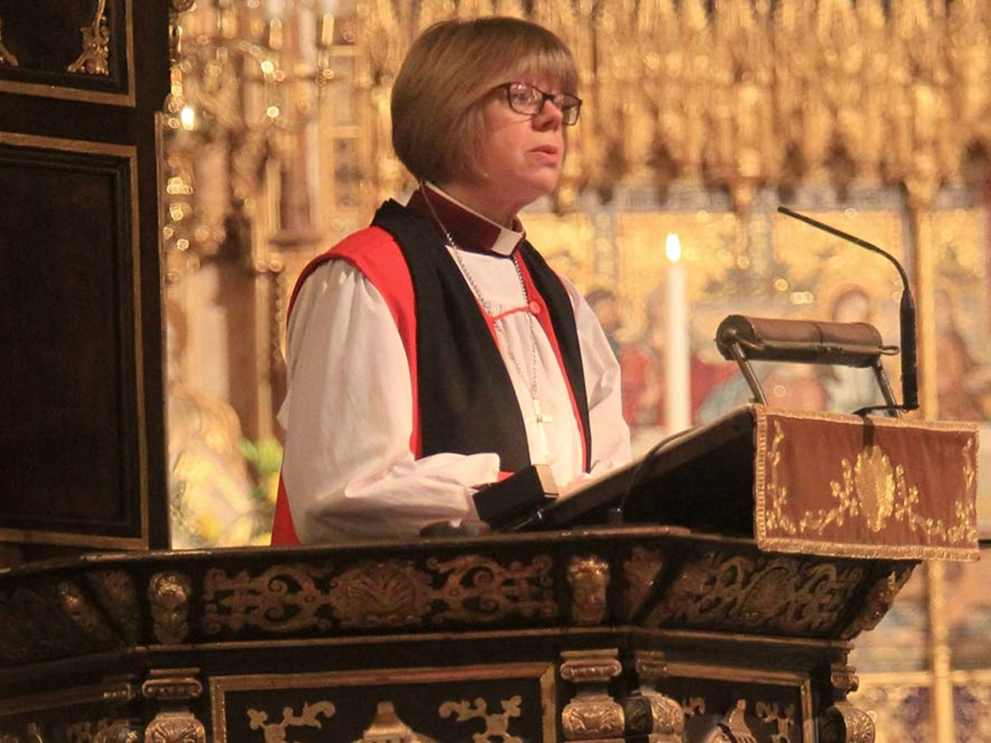 The Right Reverend and Right Honourable Dame Sarah Mullally DBE, Bishop of London, gives The Address