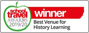 School Travel Awards 2019/20 Winner for Best Venue for History Learning