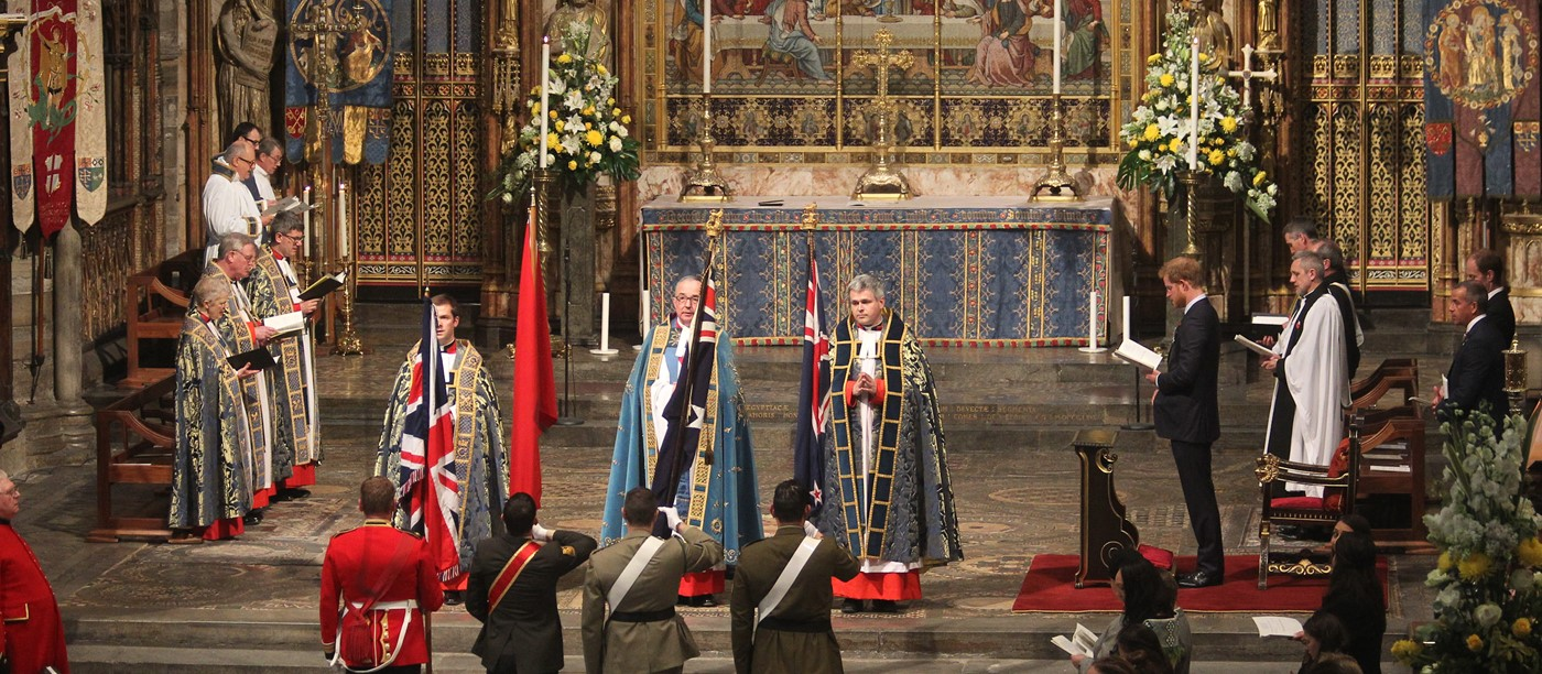 Prince Harry Attends ANZAC Day Service at Westminster Abbey