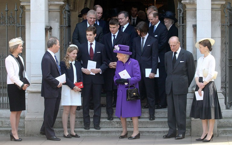HM The Queen attends Service of Thanksgiving for Lord Snowdon