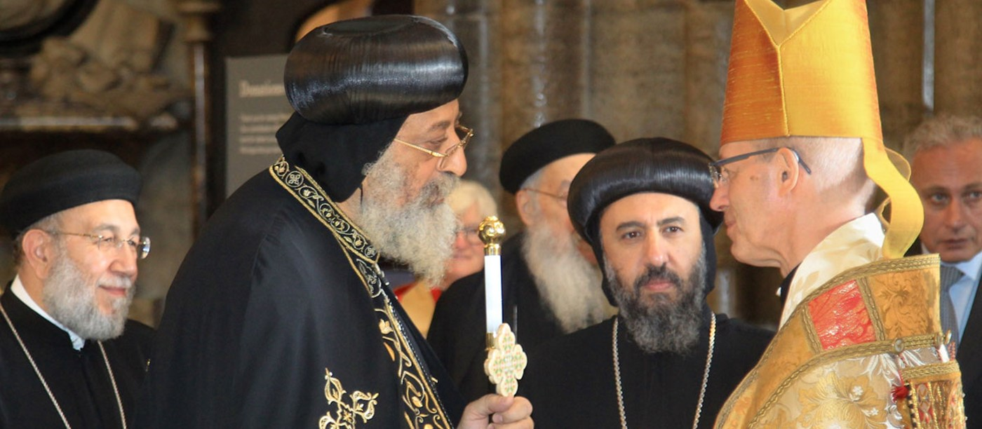 Abbey welcomes Pope Tawadros and Archbishop of Canterbury