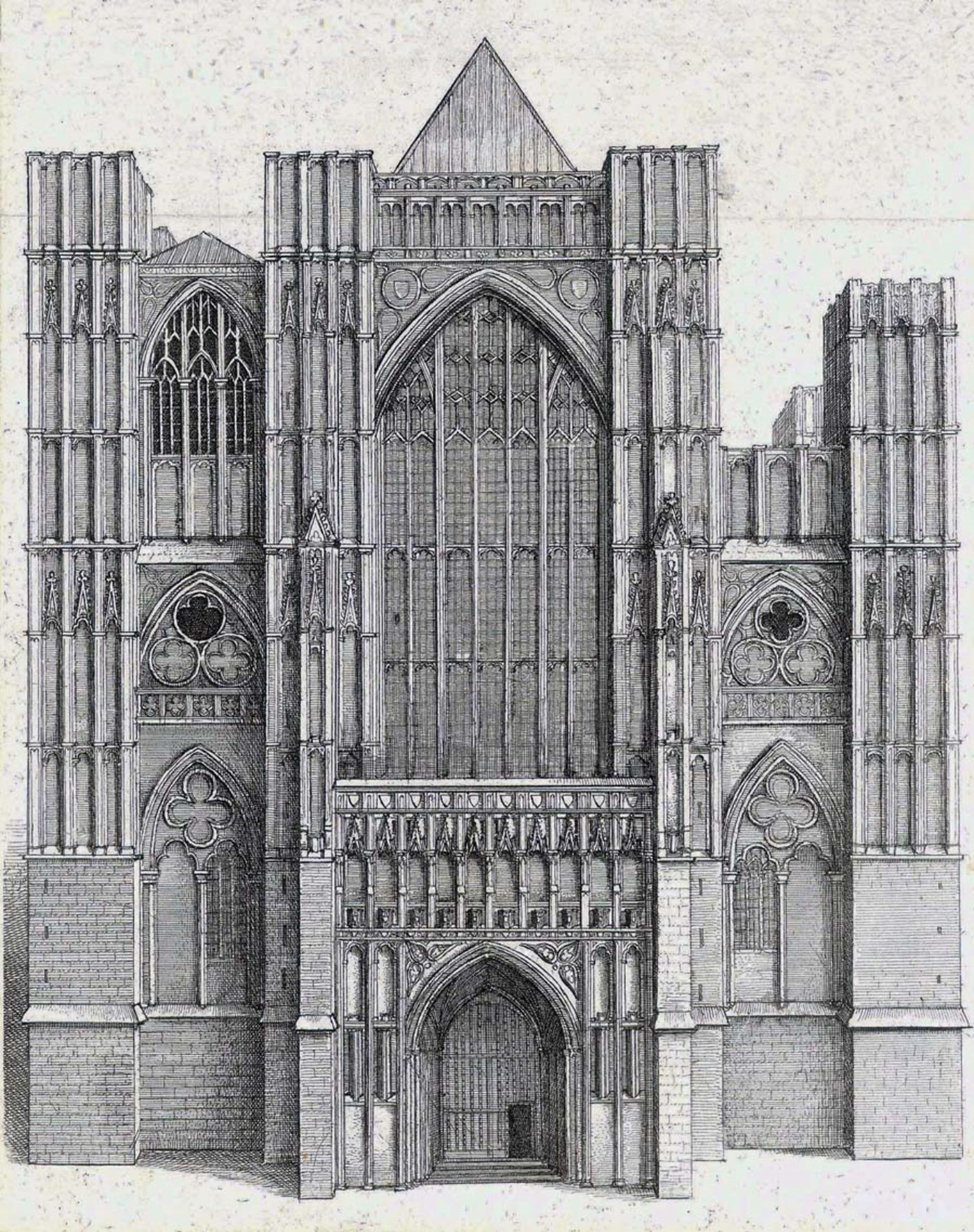 West towers unfinished, Hollar 1650s 300.jpg