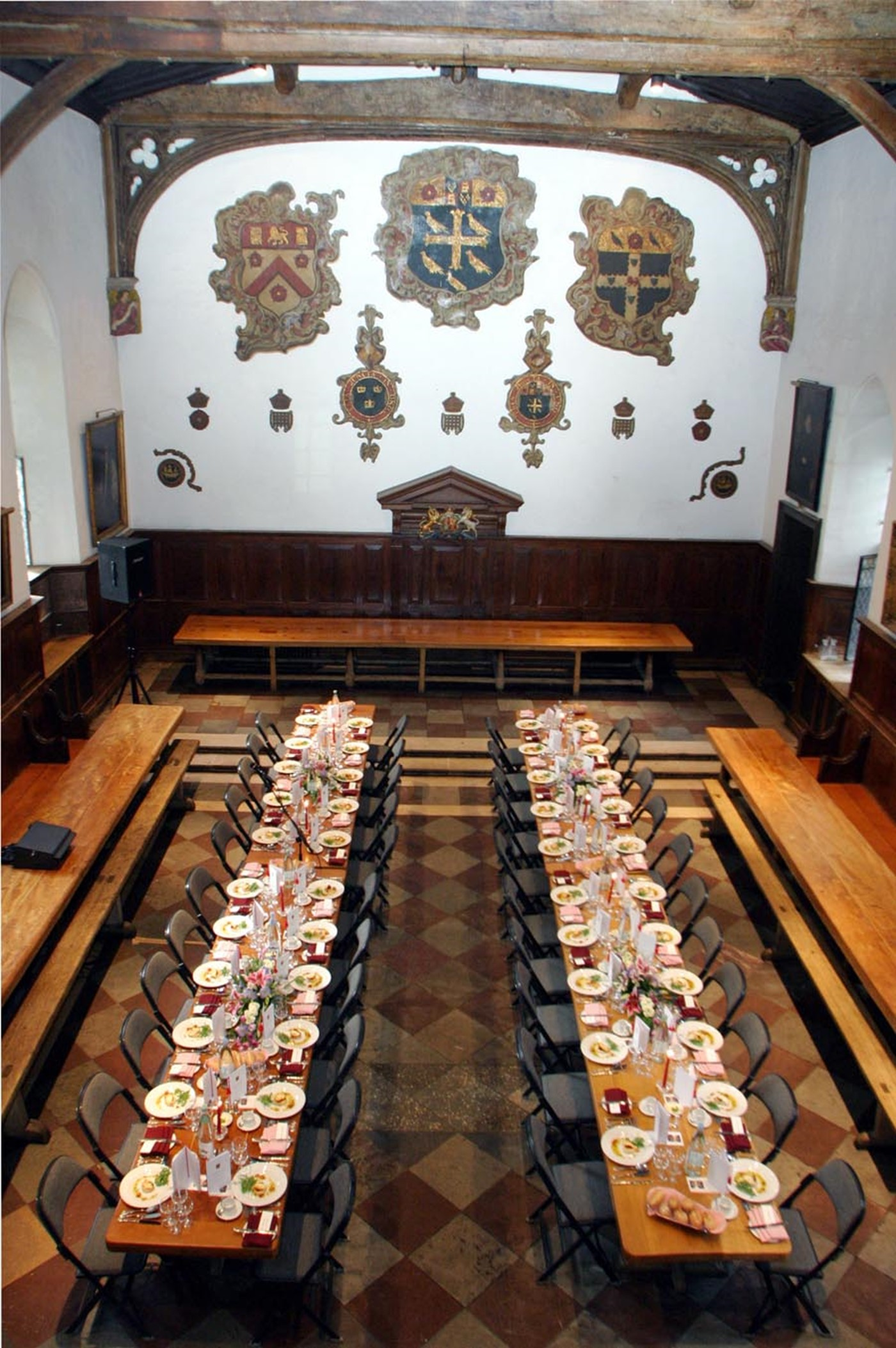 College Hall set for dinner 300.jpg