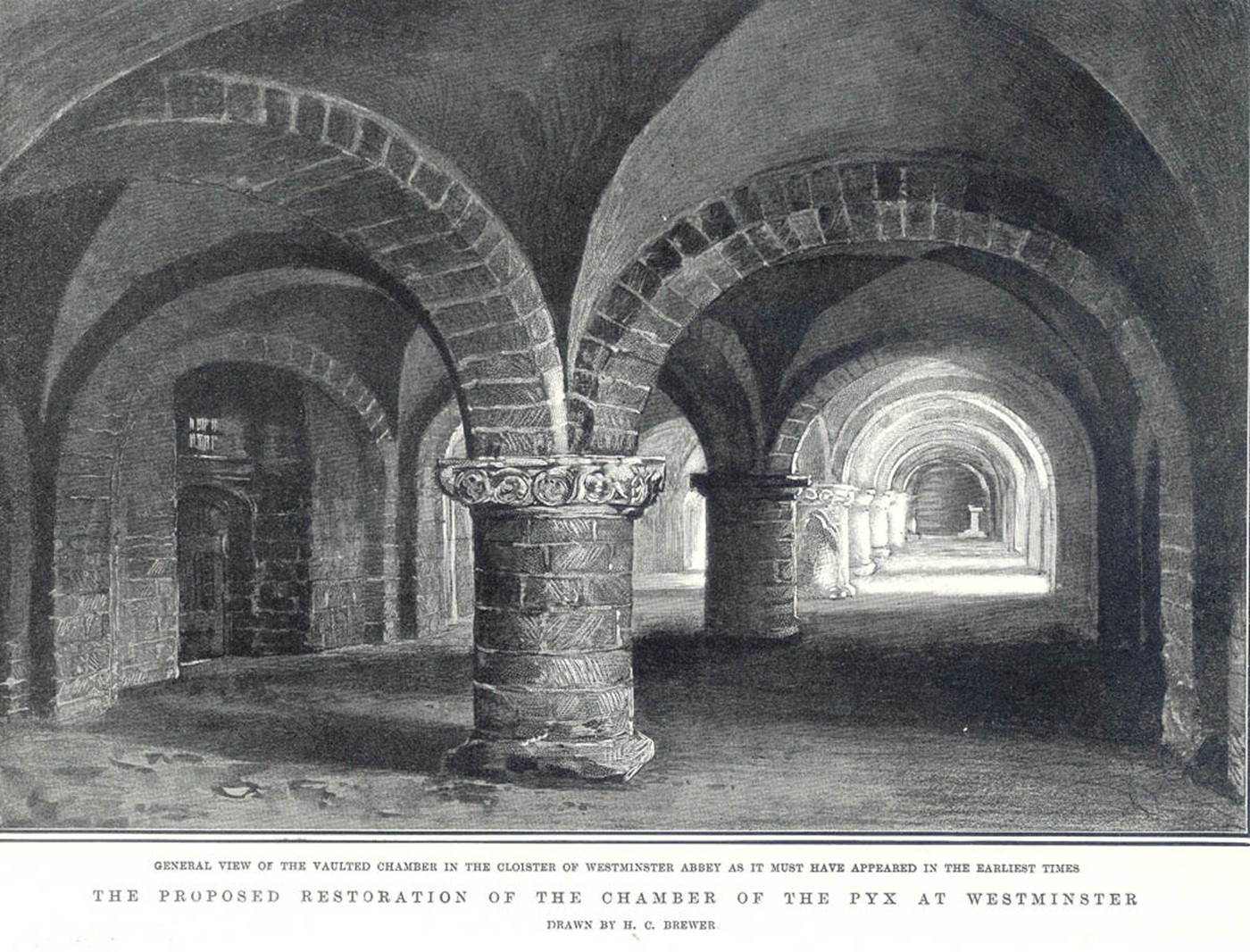 Undercroft & Pyx, sketch of proposal to knock into one room c.1904.jpg