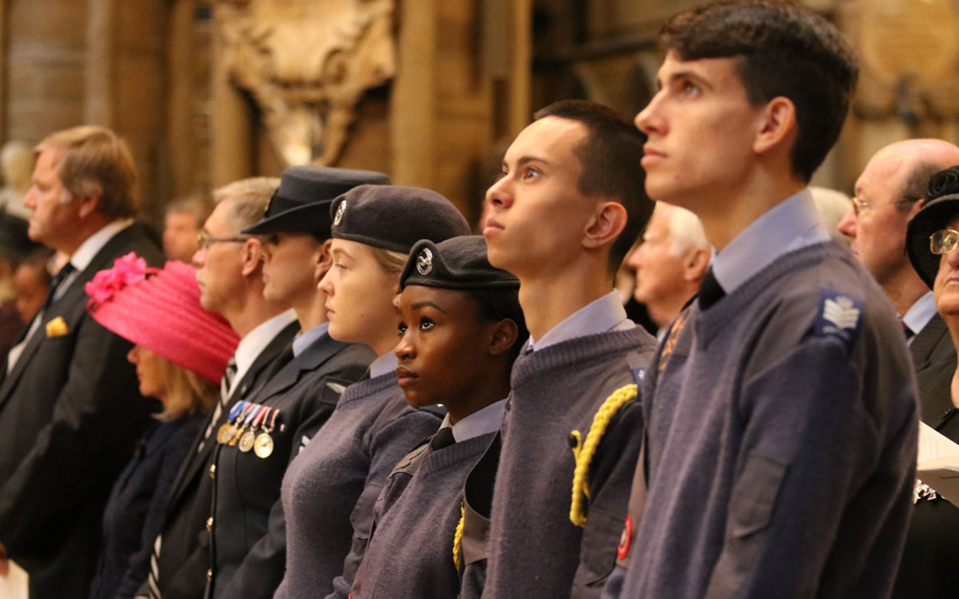 Royal Air Force Cadets at the service
