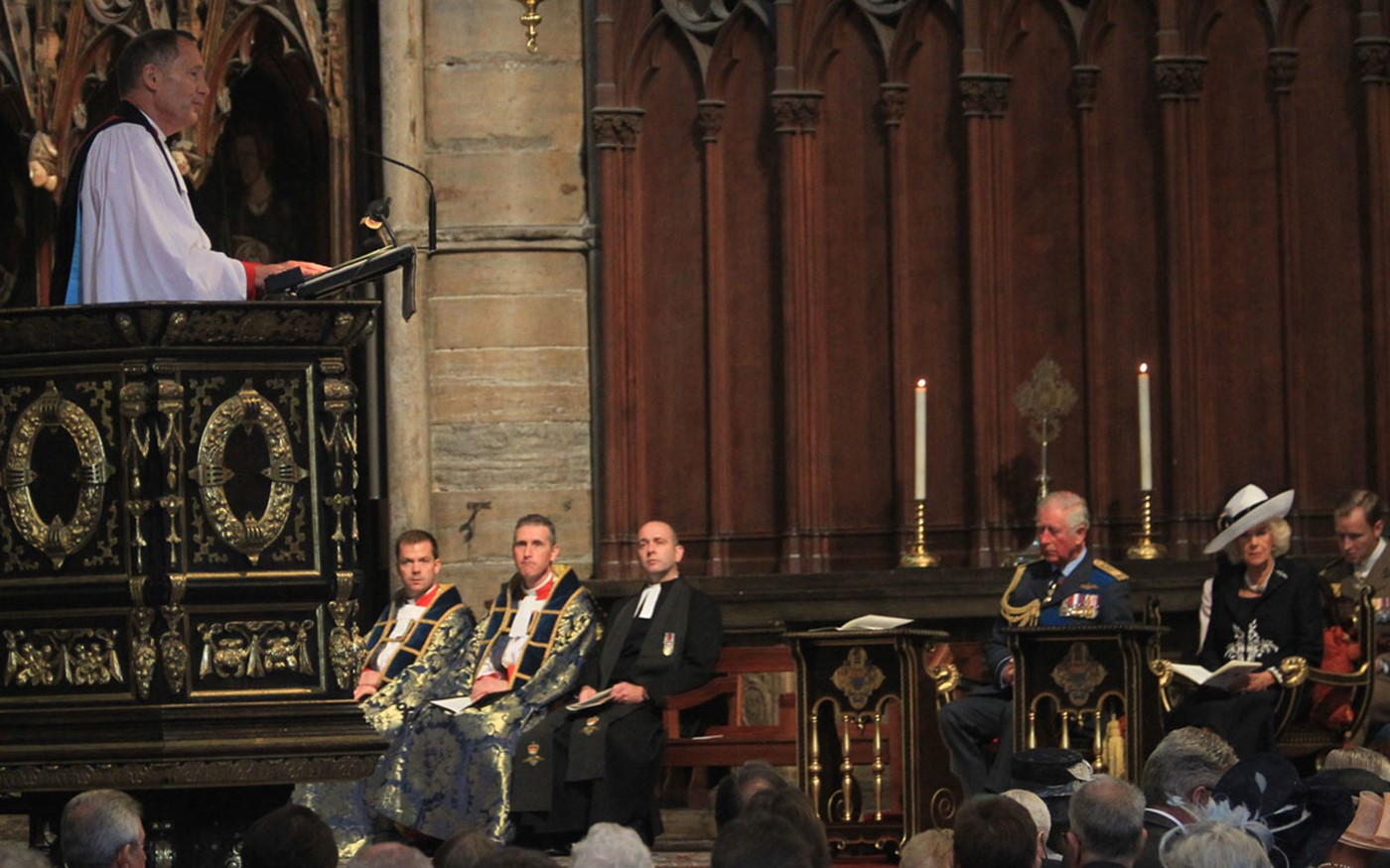 The Venerable Jonathan Chaffey, Chaplain-in-Chief of the Royal Air Force gives The Address from the Great Pulpit