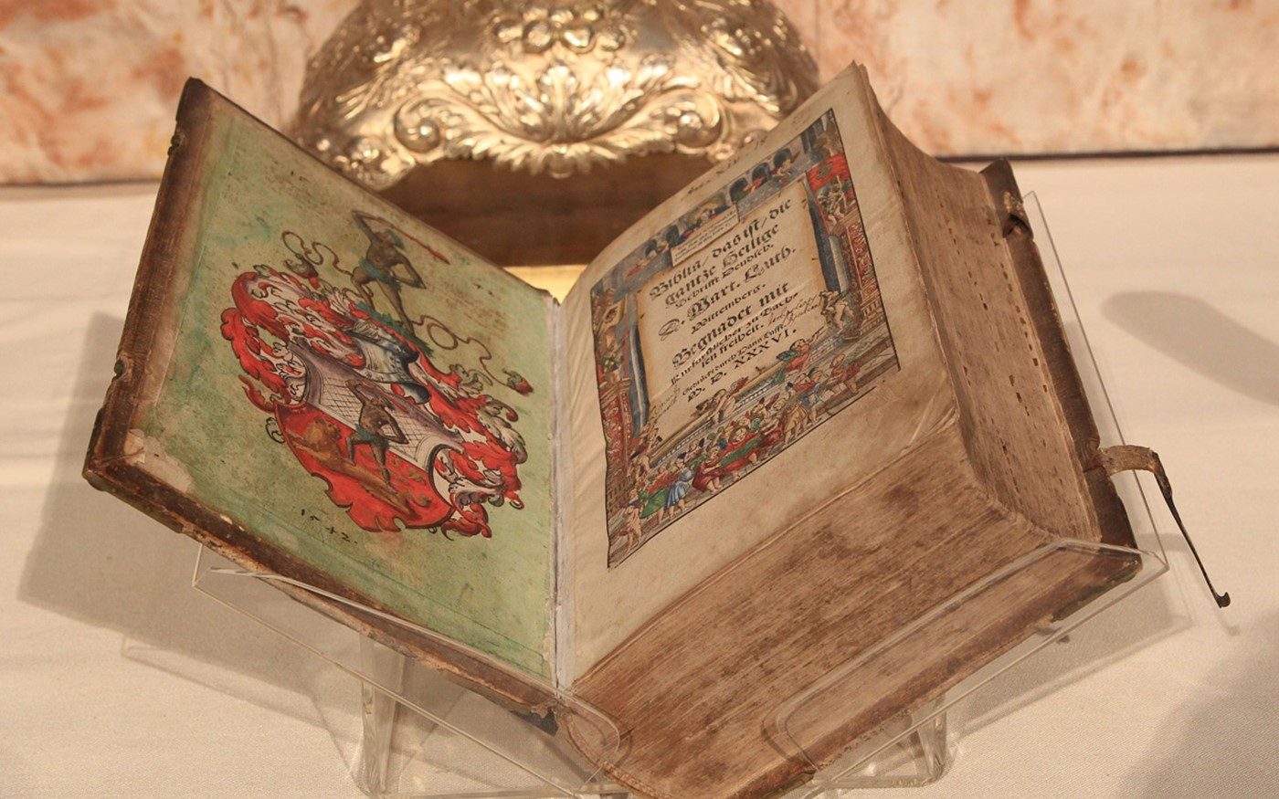 The Luther Bible, part of the Lambeth Palace Library collection, was placed on the High Altar during the service