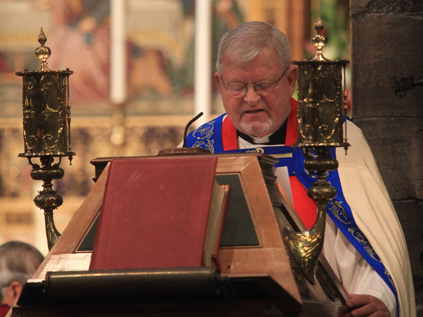 The Right Reverend Dr Martin Lind, Bishop, The Lutheran Church in Great Britain, reads Roman 1: 16-17, 3: 21-18