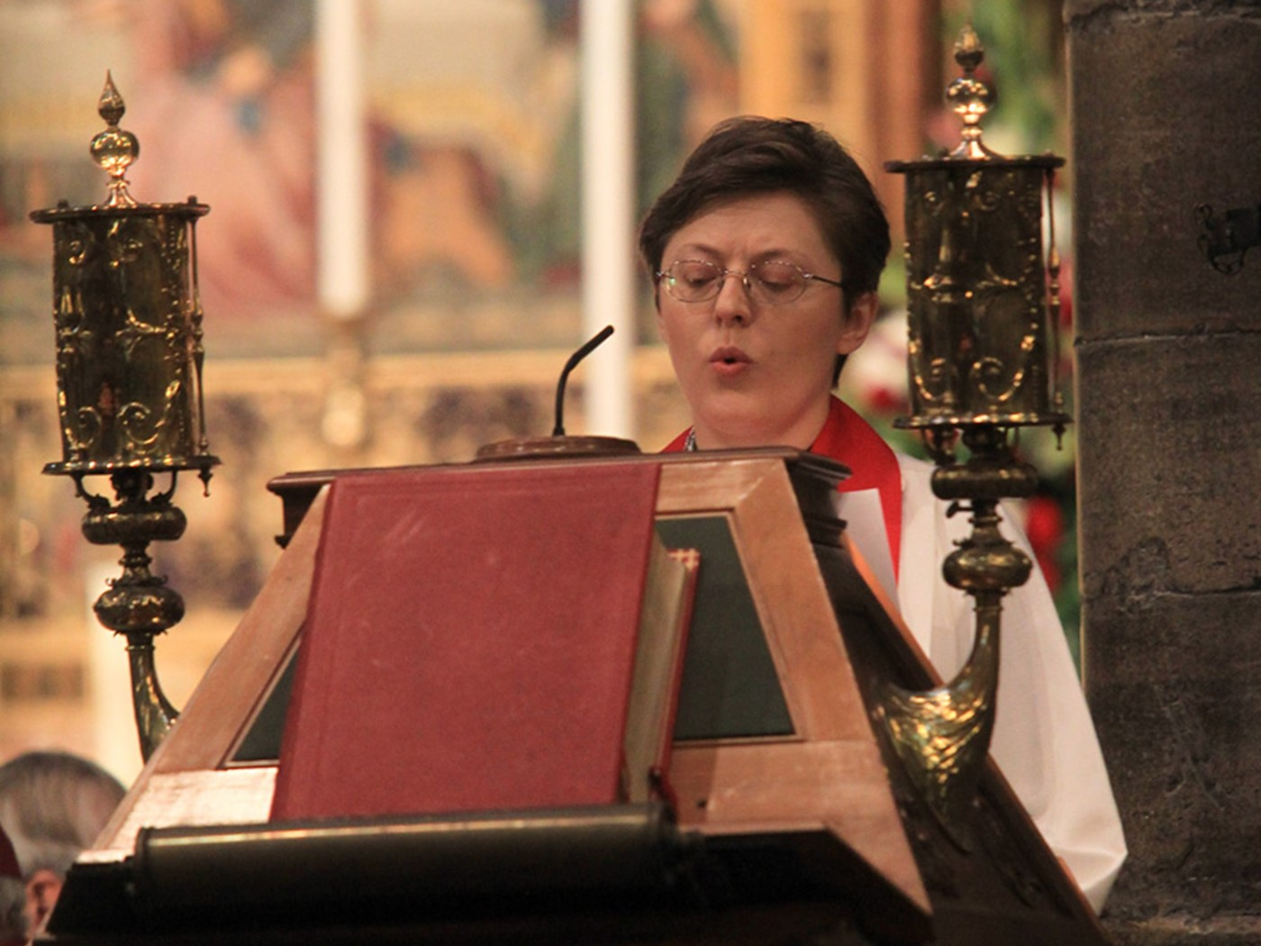 The Reverend Eliza Zikmane, pastor, the United Kingdom Lativan Lutheran Church and St Anne's Lutheran Church, London, reads St John 17: 20-26