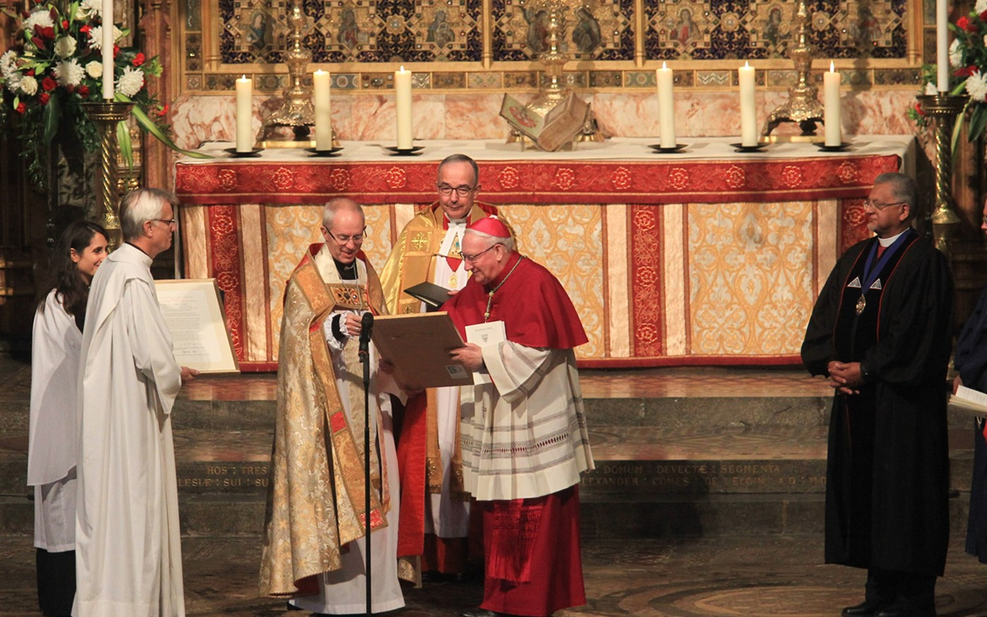 The Archbishop of Canterbury acknowledges the Anglican Communion's affirmation of the Joint Declaration on the Doctrine of Justification between the Lutheran and Roman Catholic Churches