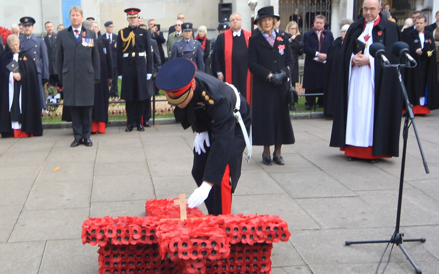 Prince Harry lays his Memorial Cross