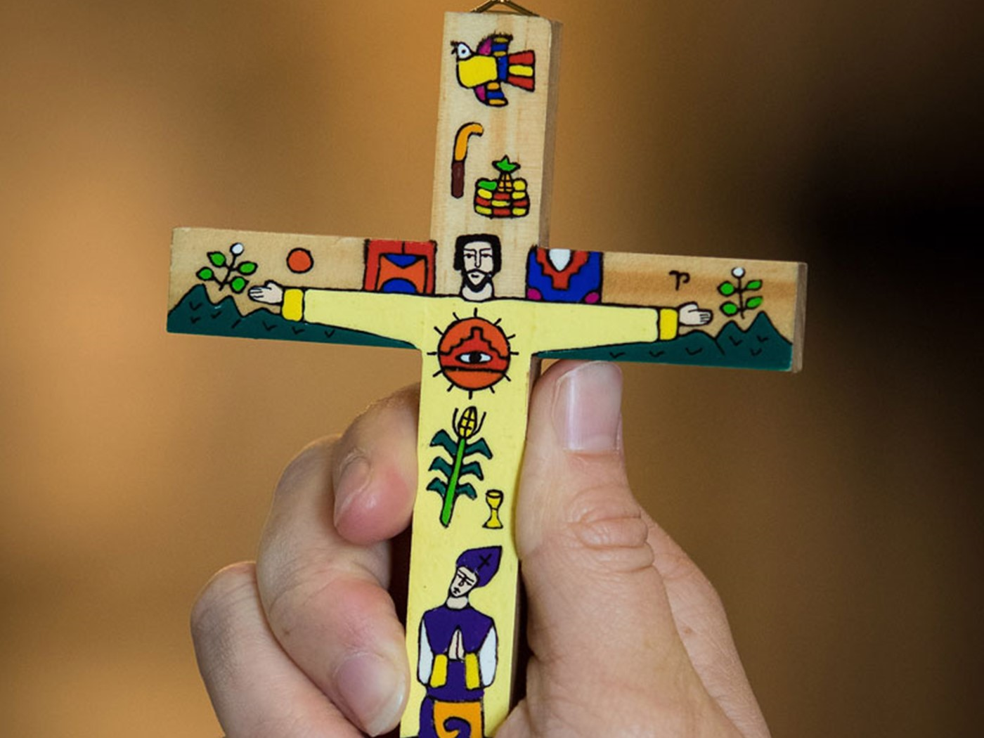 The Salvadorian Cross, given to all members of the congregation