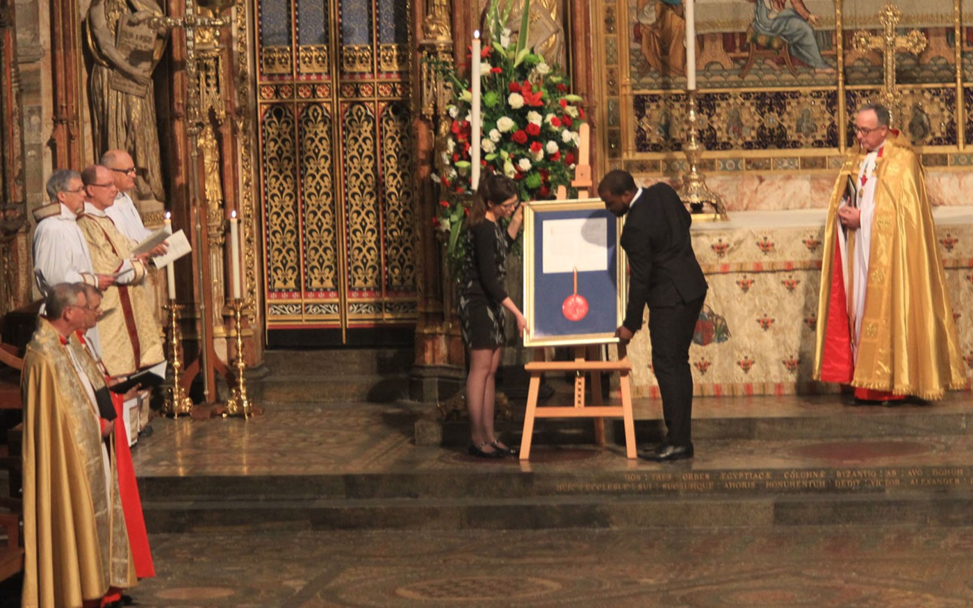 The Royal Charter of the Duke of Edinburgh's Award is placed on the High Altar