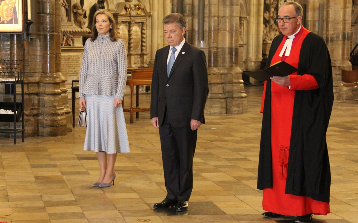 President of Colombia visits Westminster Abbey