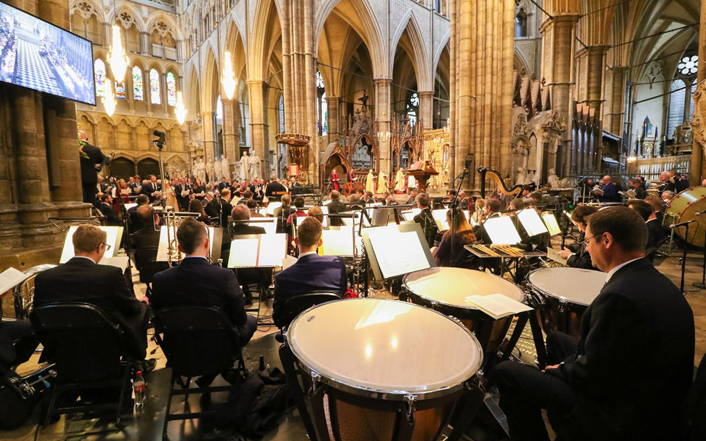 The BBC Concert Orchestra played during the service