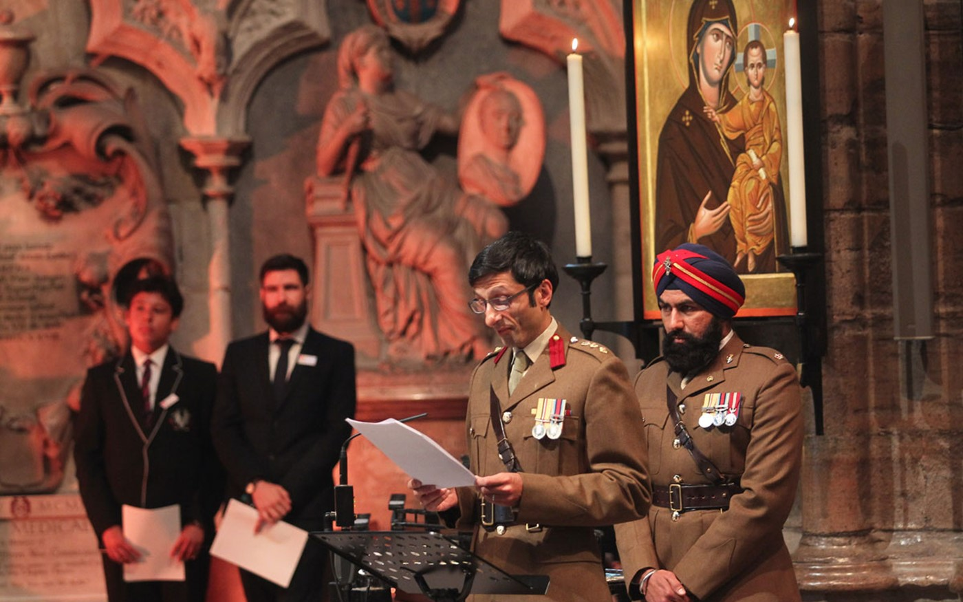 Accounts of the experiences of the Commonwealth Armed Forces were read during the Vigil