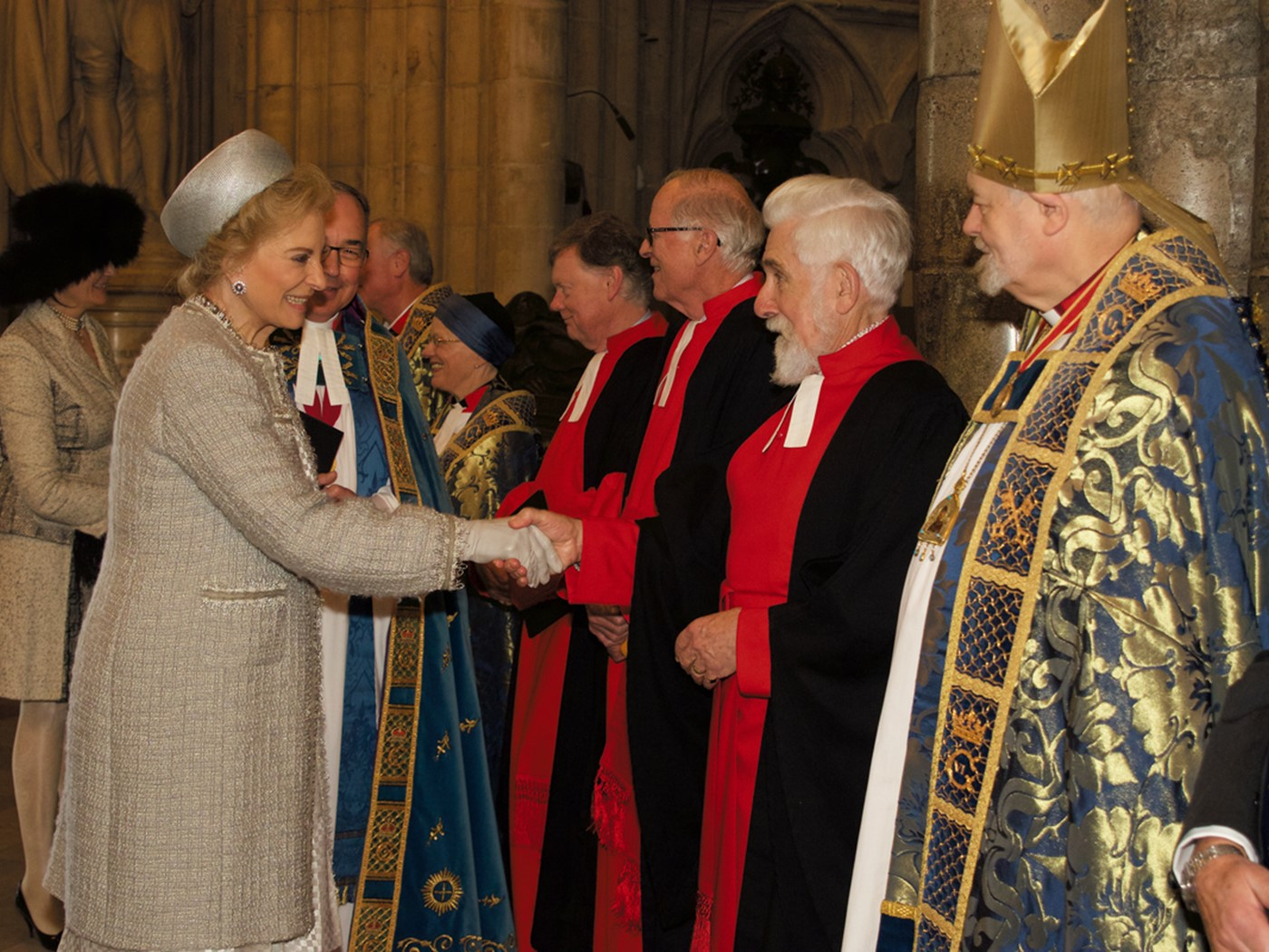 HRH The Duke of Kent and HRH Princess Michael of Kent attended a service to commemorate the 600th Anniversary of The Battle of Agincourt