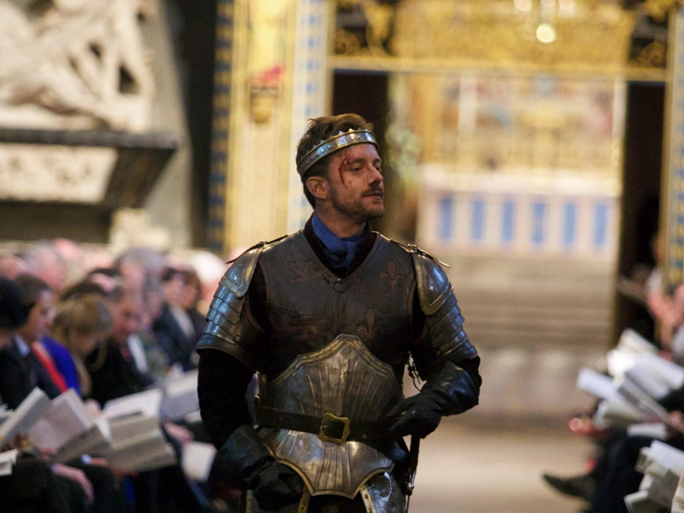Sam Marks, actor, Royal Shakespearean Company, read the Saint Crispin's Day Speech from Henry the Fifth, Act IV, Scene 3