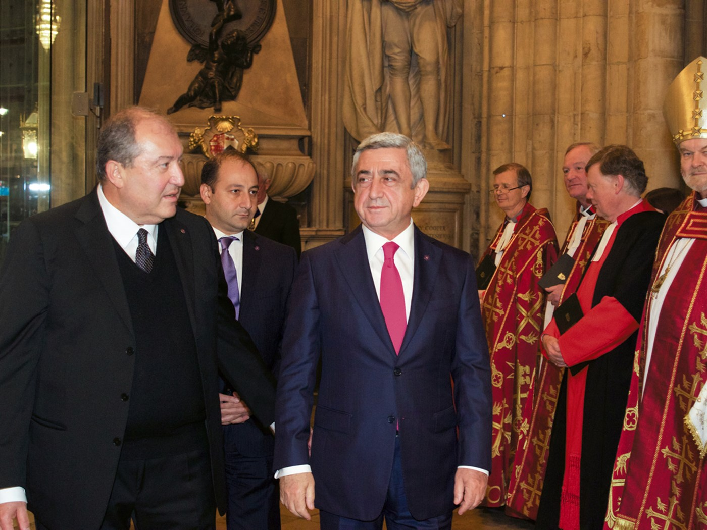 The President of the Republic of Armenia, His Excellency Serzh Sargsyan; and the Ambassador from the Republic of Armenia to the Court of St James, His Excellency Dr Armen Sarkissian