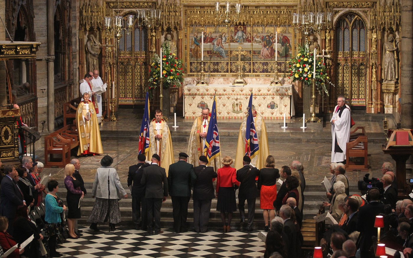 A Service of Thanksgiving to mark the Centenary of Blind Veterans UK was held at Westminster Abbey at Noon on Tuesday 6th October 2015
