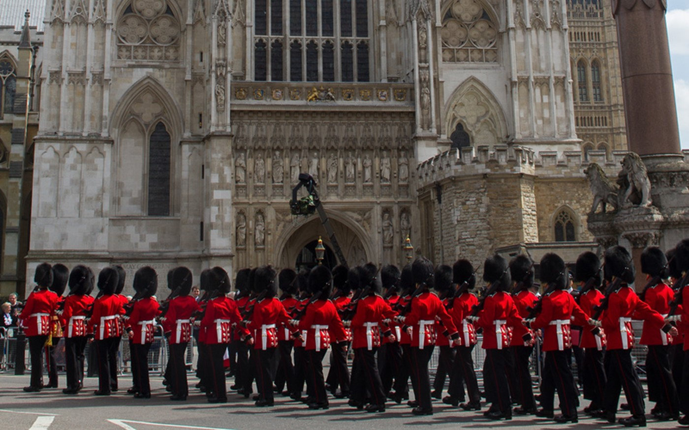 The March to House Guards Parade passes The Abbey