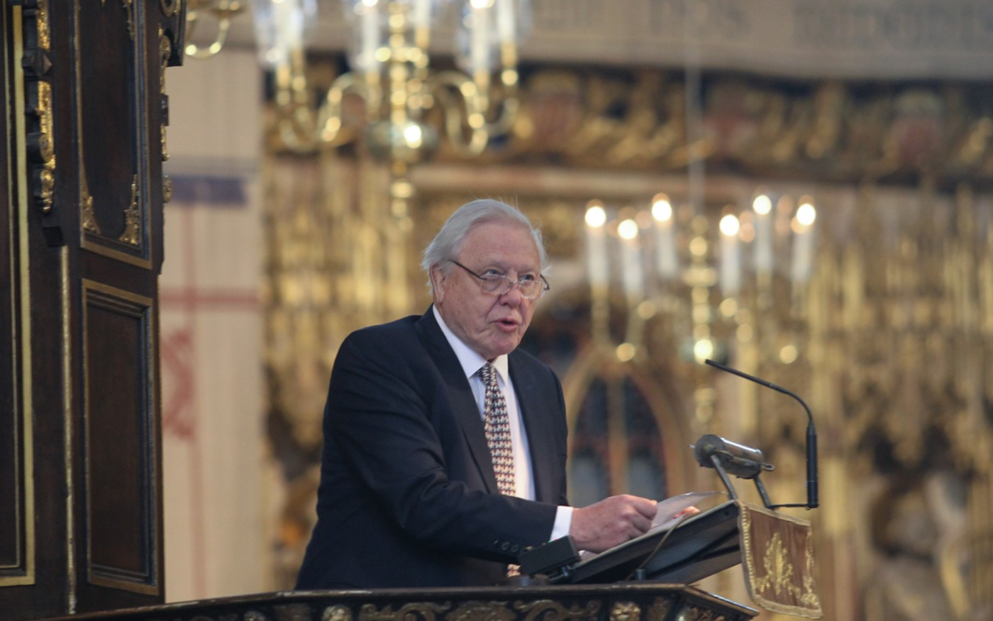 Sir David Attenborough reads his brother's address to the House of Lords