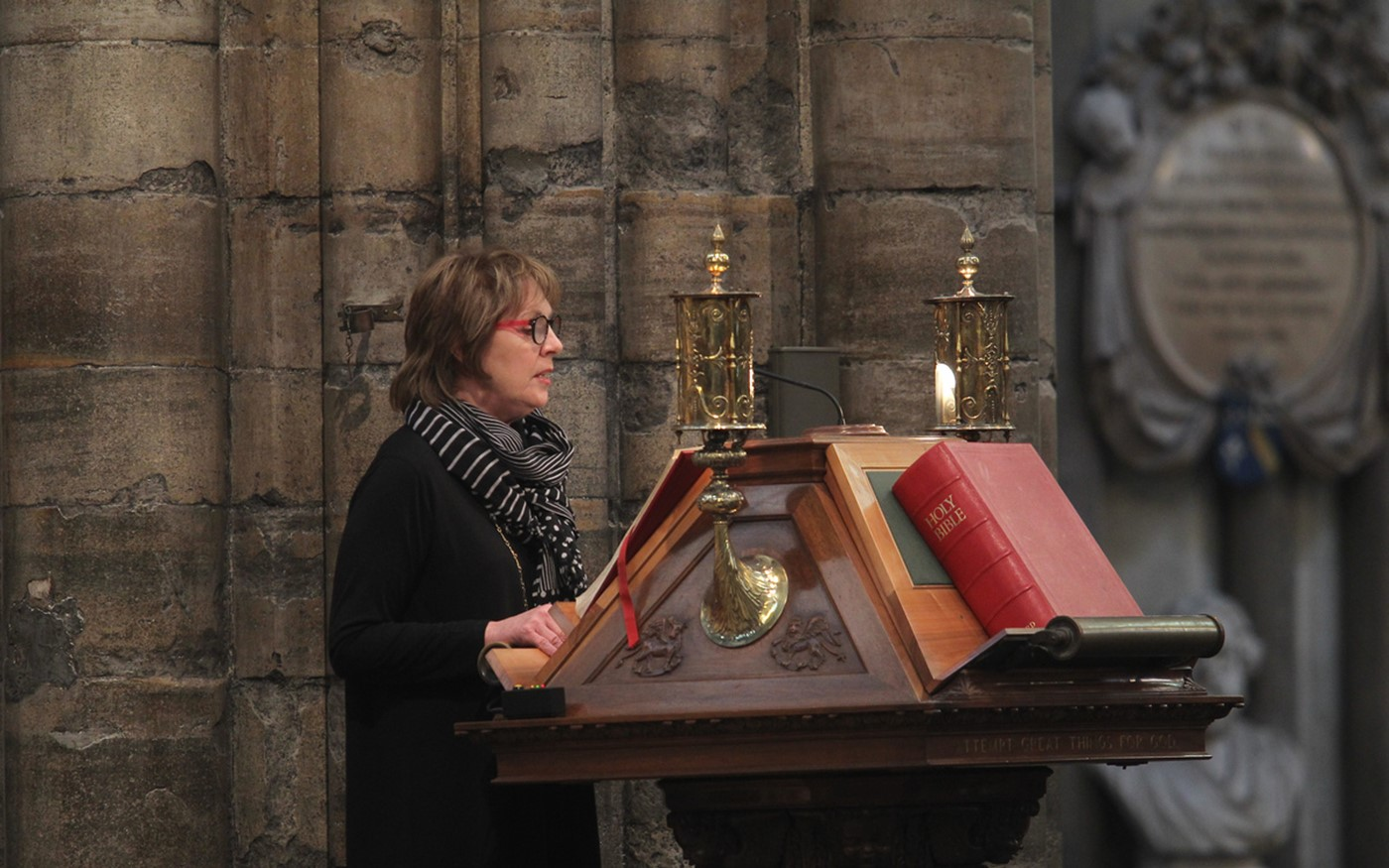 Penelope Wilton reads from the Great Lectern