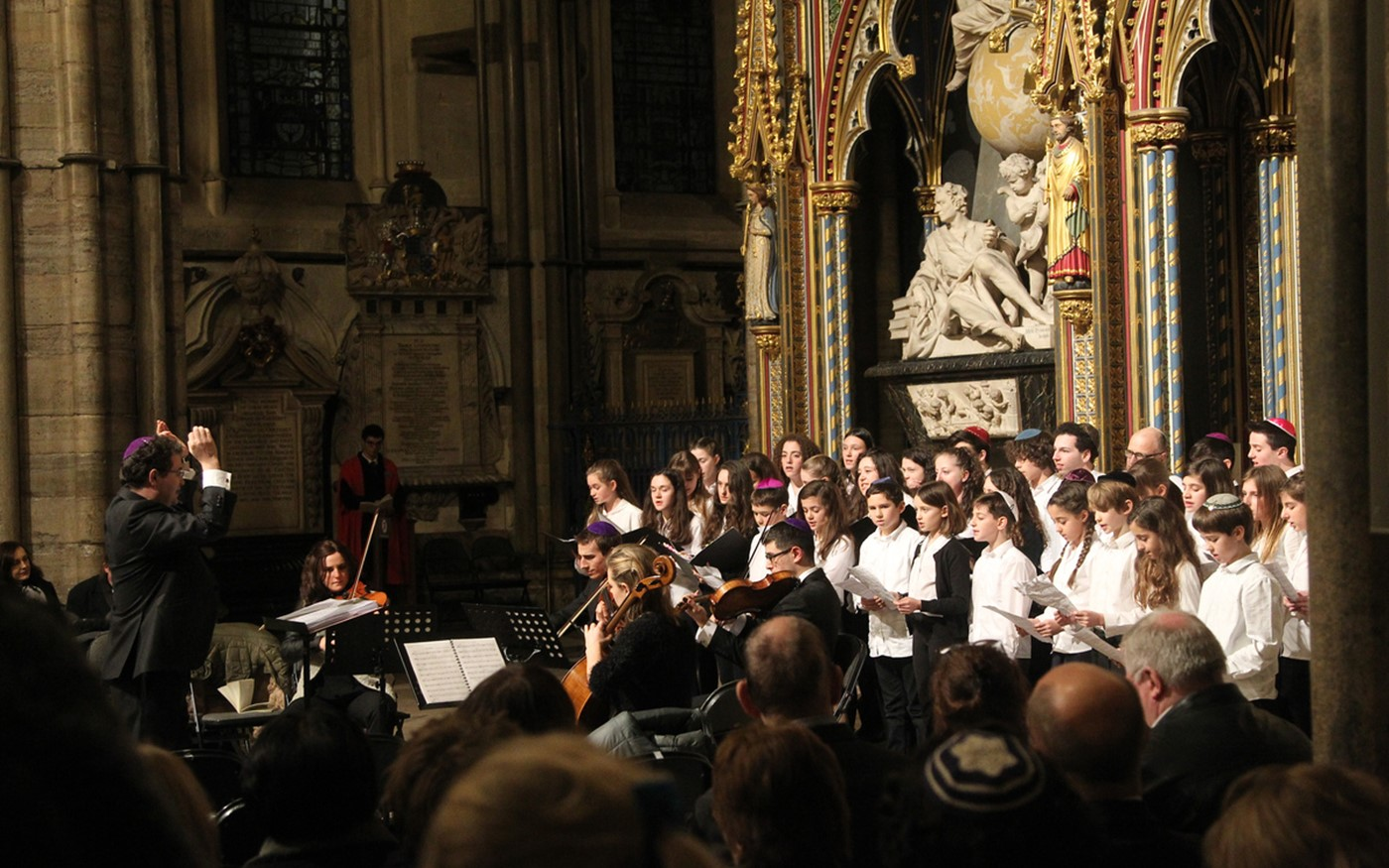 The Belsize Square Synagogue Youth Choir and the Alyth Singer from the Nave
