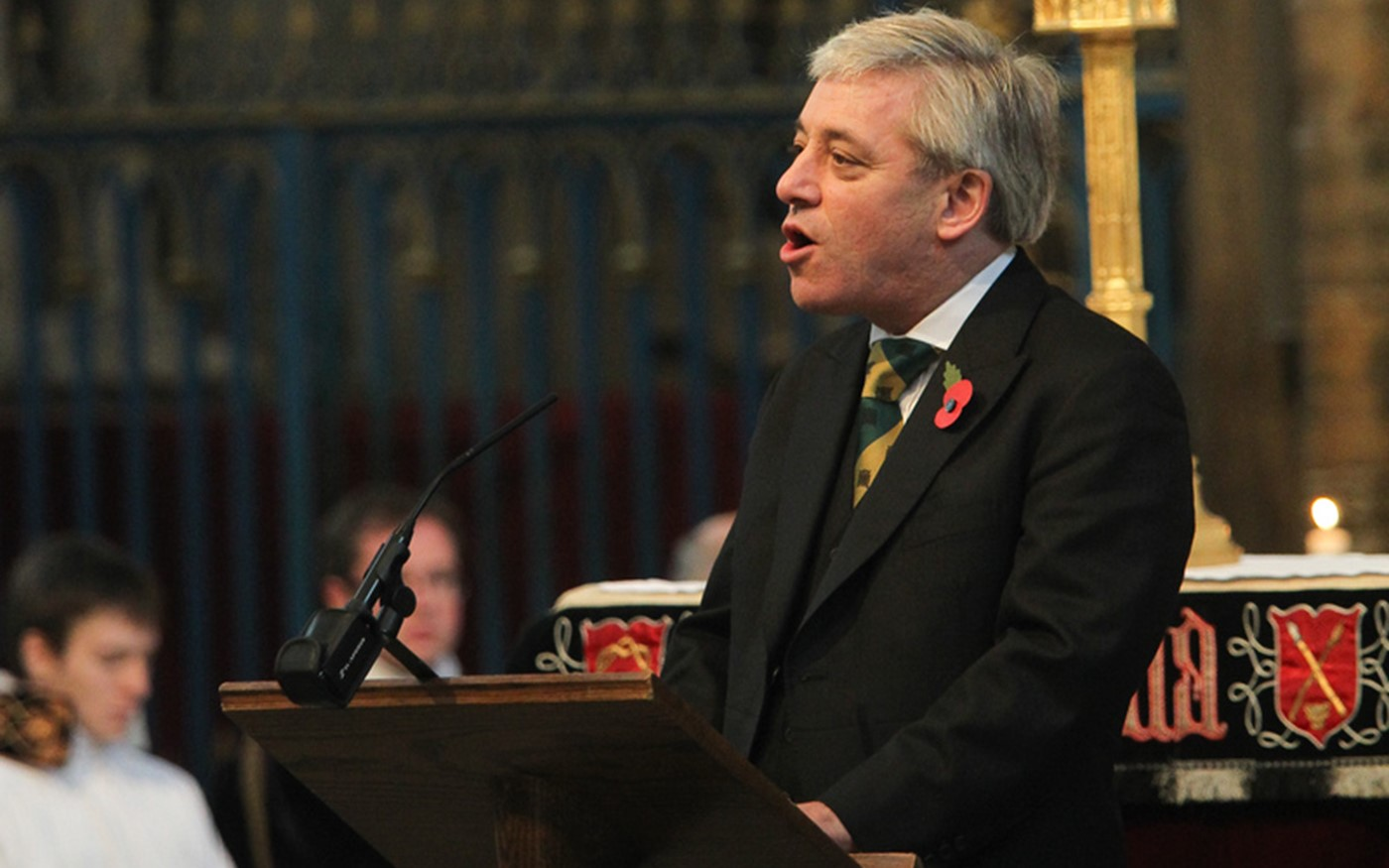 The Right Honourable John Bercow MP, Speaker of The House of Commons, reads Micah 4: 1-3