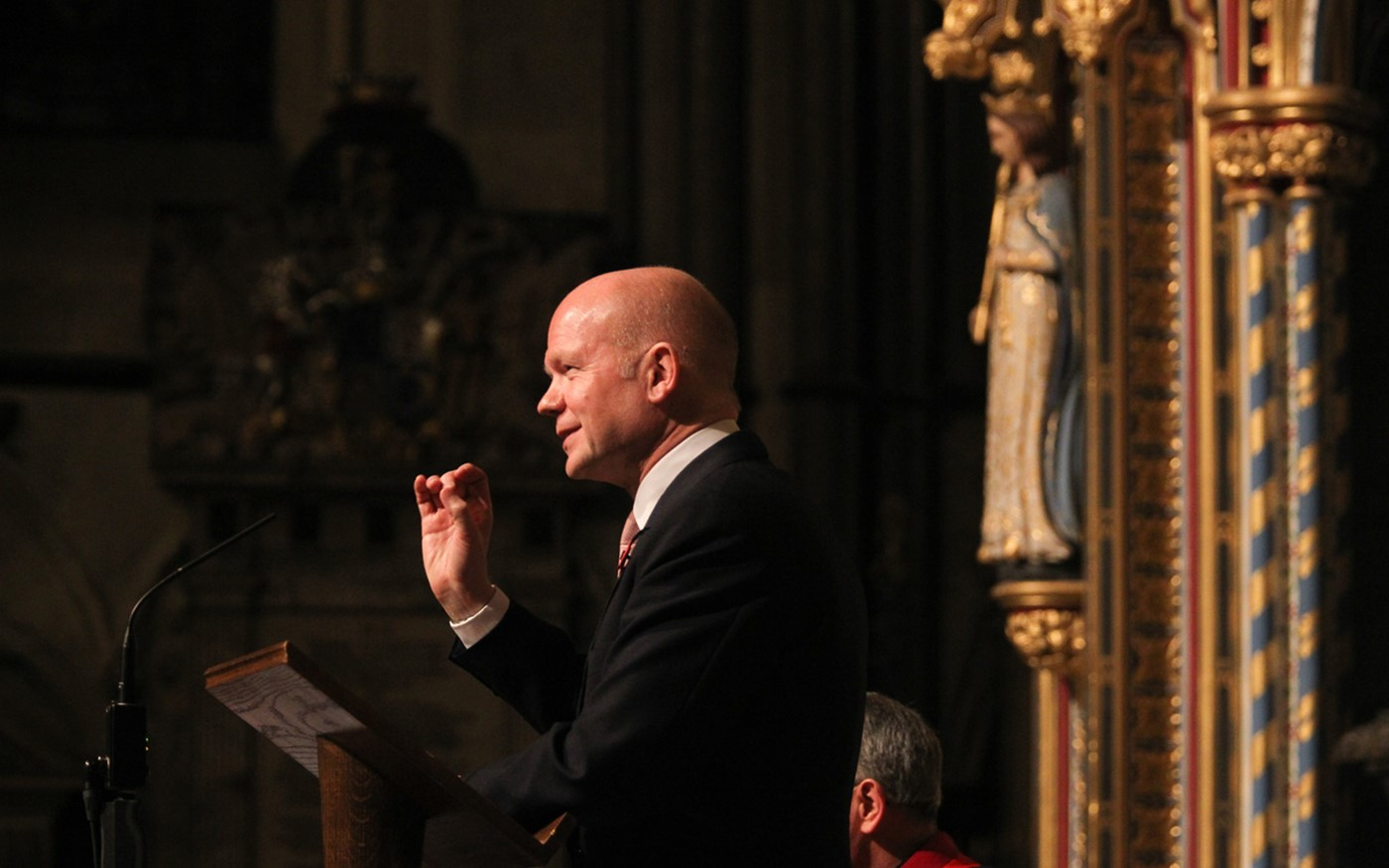 William Hague's lecture was part of Westminster Abbey Institute Going to War Season