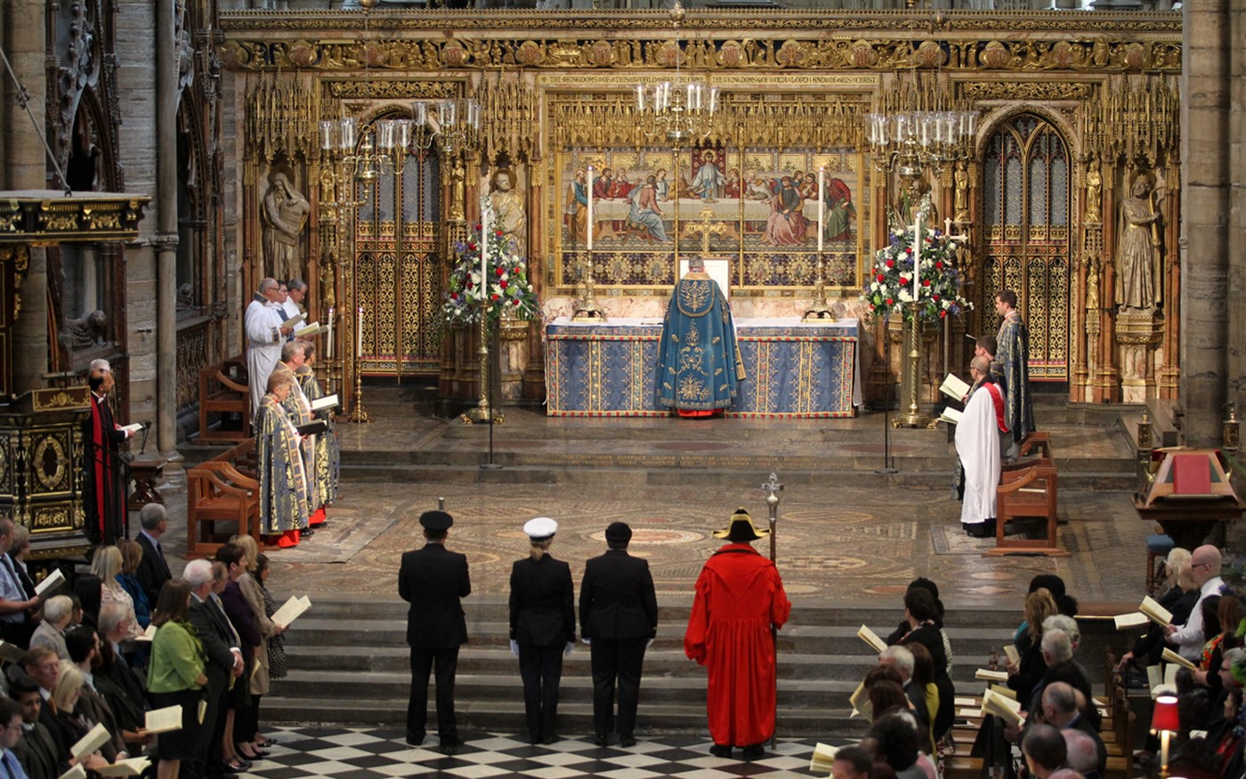 The Royal Charter is placed on the High Altar