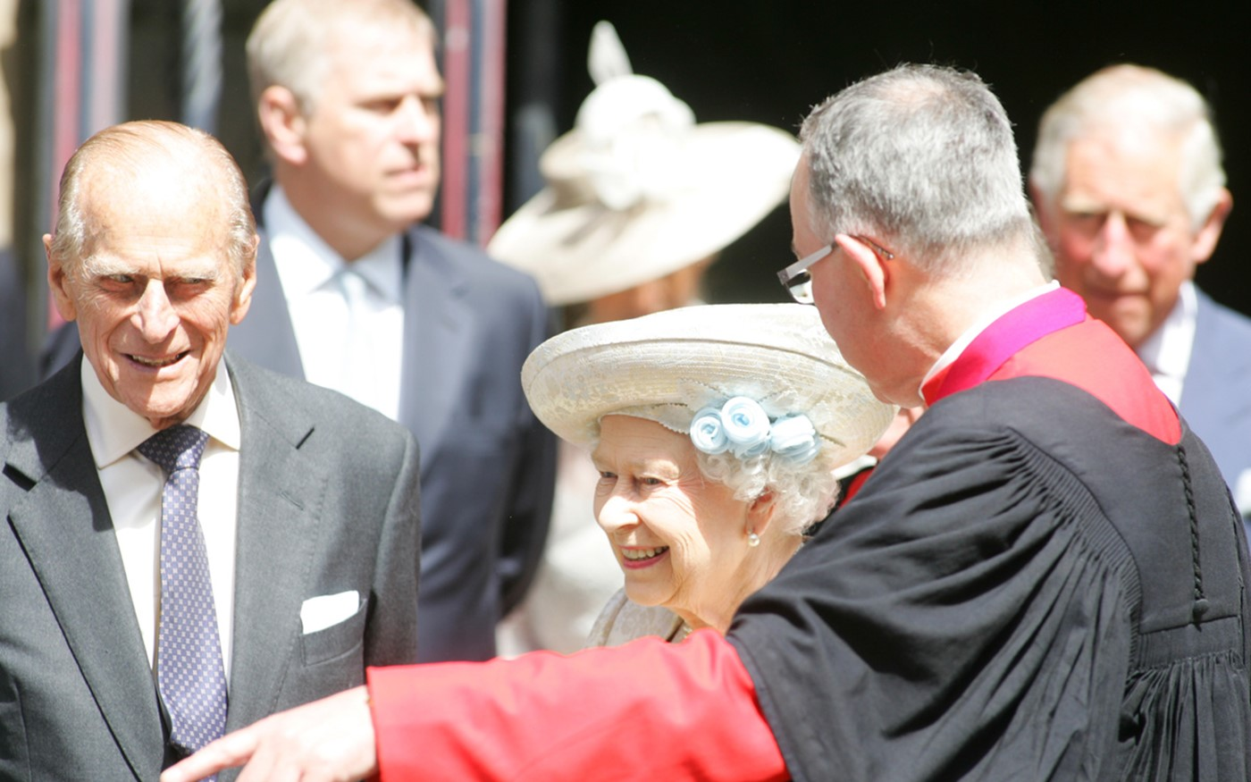The Queen and The Duke of Edinburgh leave the Abbey