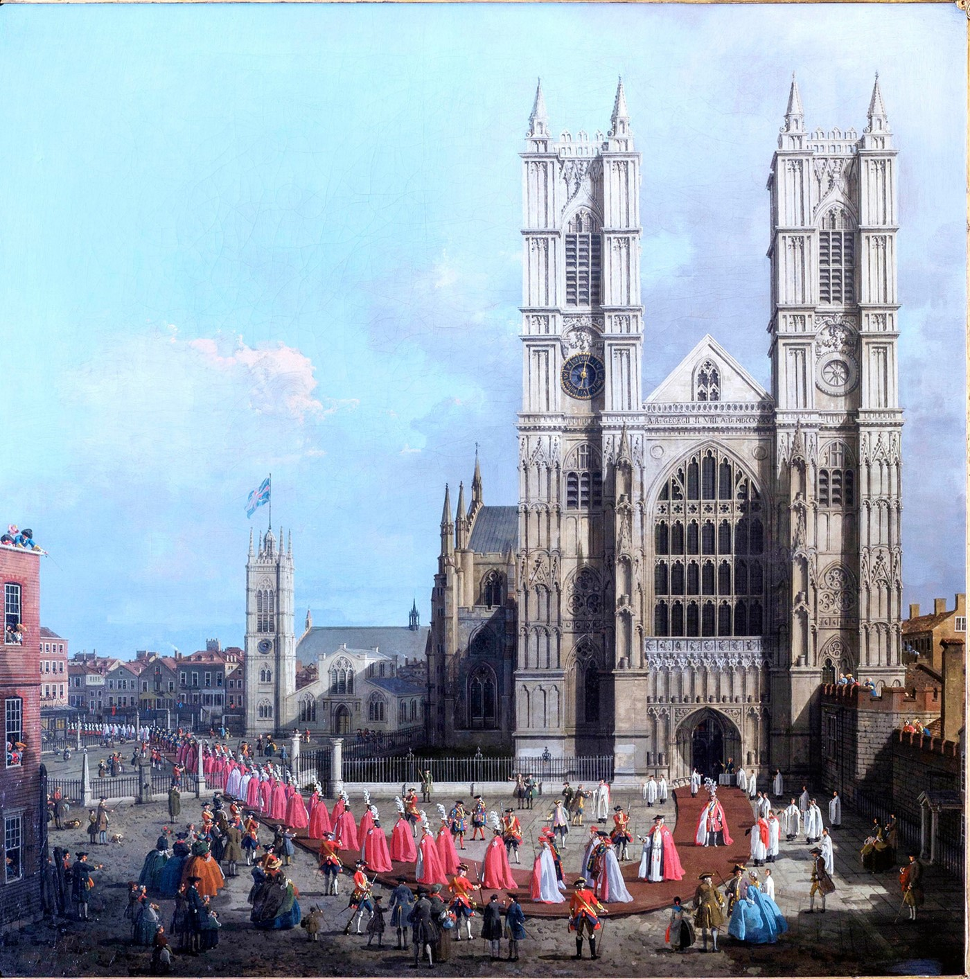 Canaletto procession of Knights of the Bath 1749 detail (DL16) Westminster Abbey copyright.jpg