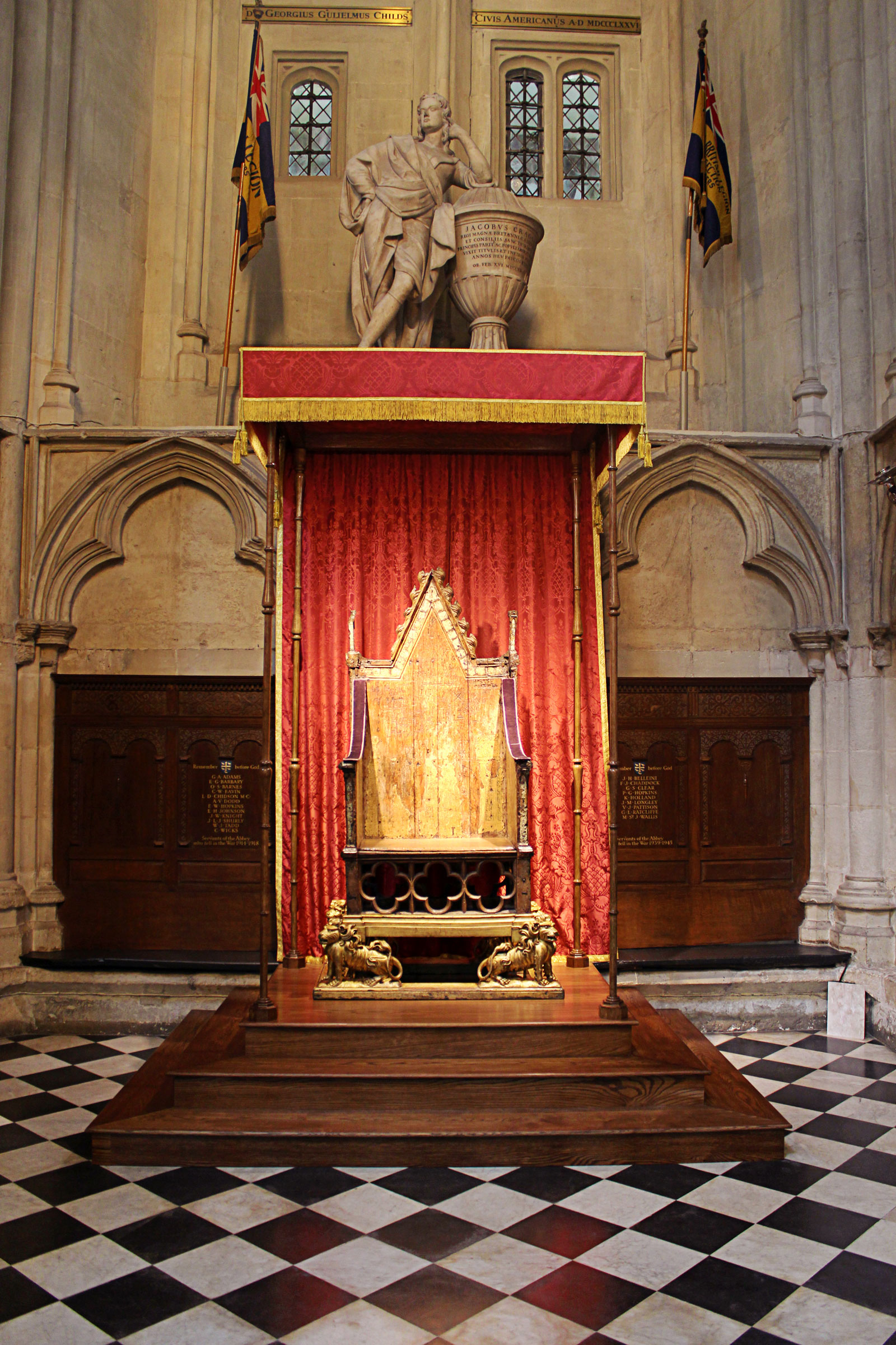 The Coronation Chair in St George's Chapel