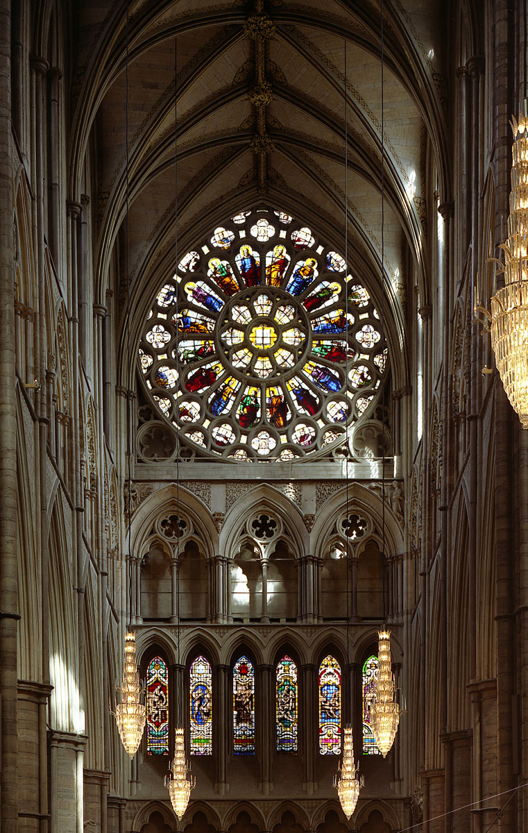 Rose window in the North Transept