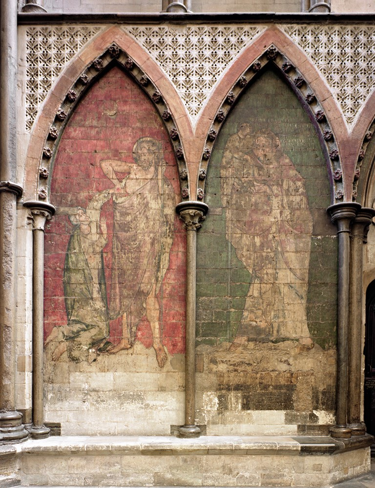 Wall paintings in the south transept