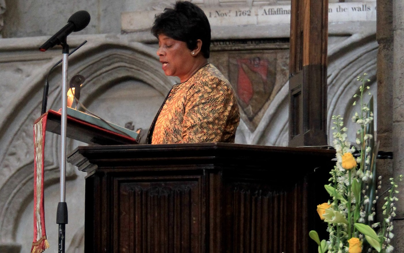 Baroness (Doreen) Lawrence of Clarendon reads Amos 5: 18-24 from the Nave Pulpit