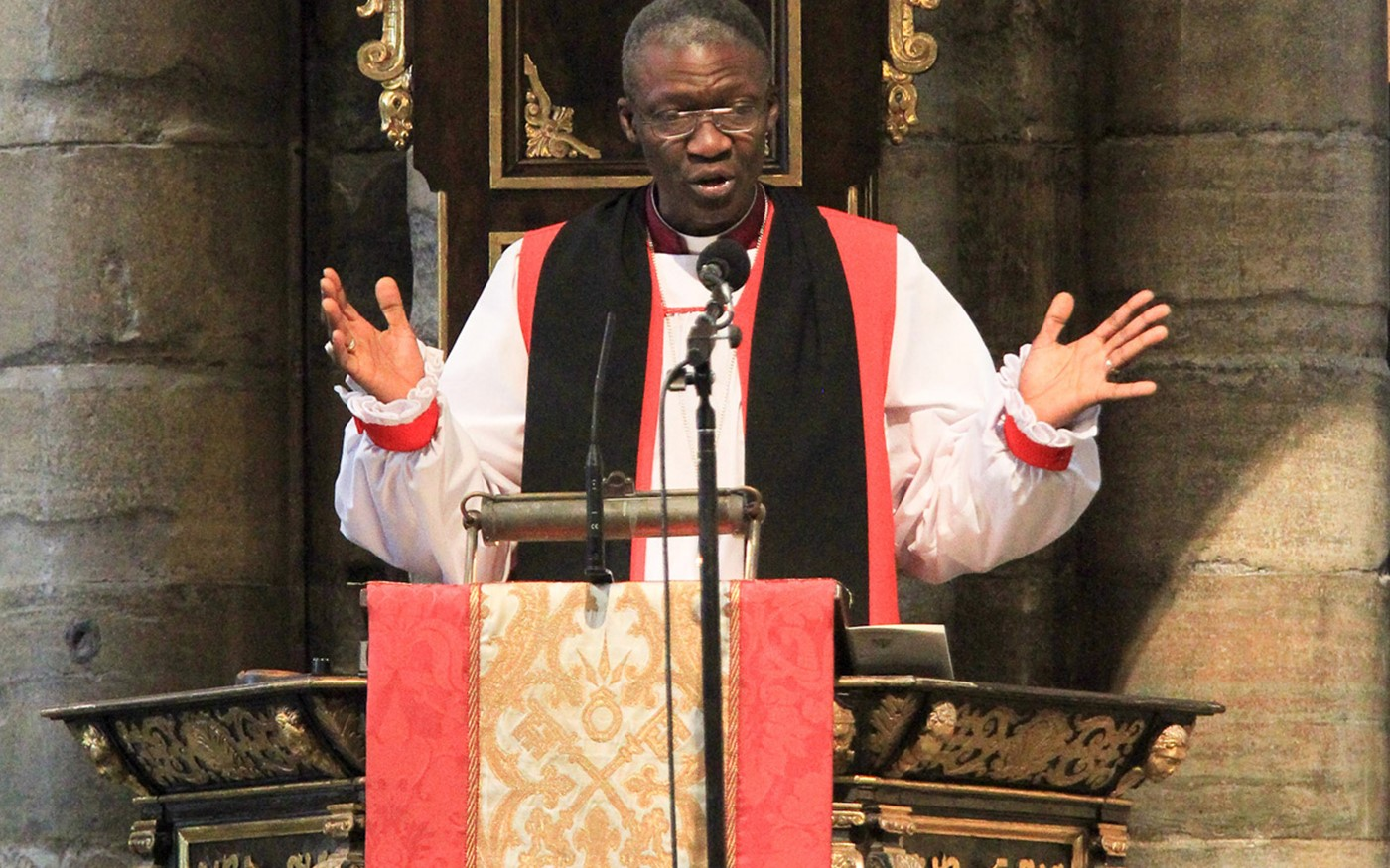 The Right Reverend Dr Karowei Dorgu, Bishop of Woolwich, gives The Address