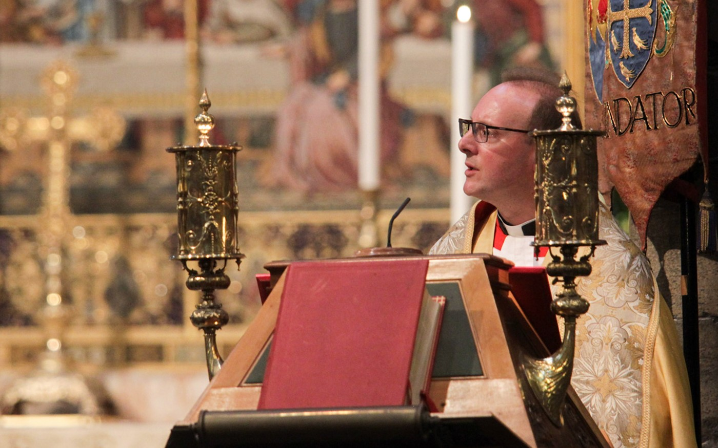 The Reverend Anthony Ball, Canon in Residence, reads Ruth 1: 1-18