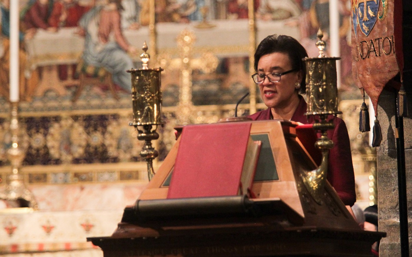 The Right Honourable The Baroness Scotland of Asthal QC, Secretary-General of the Commonwealth, reads St Luke 16: 19-end
