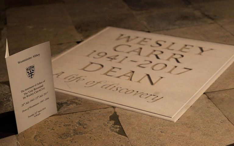 Ashes of Dr Wesley Carr buried in the Abbey