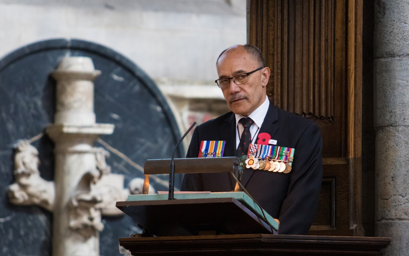 His Excellency the High Commissioner for New Zealand, Lieutenant General The Right Honourable Sir Jerry Mateparae GNZM QSO KStJ, reads St Micah 4: 1-5